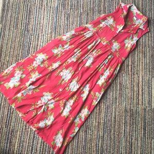 Dresses & Skirts - VINTAGE Aloha print crepe dress